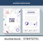 business brochure illustration | Shutterstock .eps vector #578970751
