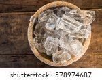 top view of ice cube in ice... | Shutterstock . vector #578974687