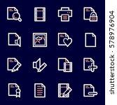 document web icons set | Shutterstock .eps vector #578976904