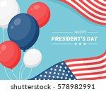 presidents day in usa vector...   Shutterstock .eps vector #578982991