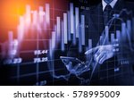 double exposure businessman and ... | Shutterstock . vector #578995009