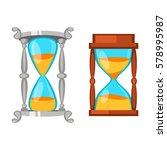 sand clocks vector isolated. | Shutterstock .eps vector #578995987