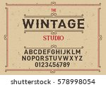 typeface. label. wintage... | Shutterstock .eps vector #578998054