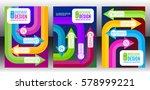 vector flyer template design... | Shutterstock .eps vector #578999221