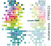 vector colorful mosaic pattern... | Shutterstock .eps vector #57900121