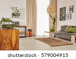 living room with comfortable... | Shutterstock . vector #579004915