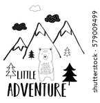 little adventure typography and ... | Shutterstock .eps vector #579009499
