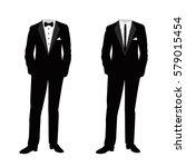 wedding men's suit and tuxedo.... | Shutterstock .eps vector #579015454