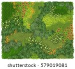 vertical garden background and... | Shutterstock . vector #579019081