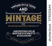 typeface. label. wintage... | Shutterstock .eps vector #579020644