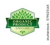 organic product vector emblem | Shutterstock .eps vector #579025165