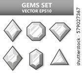 modern vector set of gems for... | Shutterstock .eps vector #579027367