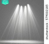 vector spotlights. scene. light ... | Shutterstock .eps vector #579032185