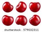 cherry isolated on white... | Shutterstock . vector #579032311