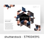 memphis geometric background... | Shutterstock .eps vector #579034591