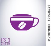 tea and coffe cup vector icon.... | Shutterstock .eps vector #579036199