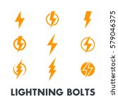 lightning bolt vector signs ... | Shutterstock .eps vector #579046375