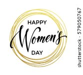 women day gold glitter greeting ... | Shutterstock .eps vector #579050767