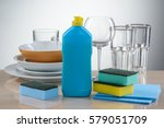 round deep and shallow plates ... | Shutterstock . vector #579051709