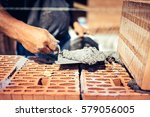 close up details of industrial... | Shutterstock . vector #579056005