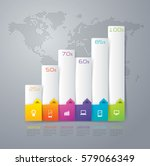 graph infographics design... | Shutterstock .eps vector #579066349