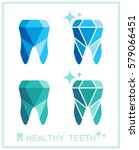 tooth logo set. vector... | Shutterstock .eps vector #579066451