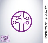 circuit board  technology icon. ...   Shutterstock .eps vector #579067591