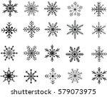 snowflake in vector | Shutterstock .eps vector #579073975