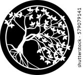 tree in circle tattoo. | Shutterstock .eps vector #579079141