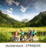 mixed group of cyclists | Shutterstock . vector #57908245