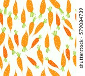 seamless pattern with carrot... | Shutterstock .eps vector #579084739