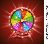 colorful fortune wheel.... | Shutterstock .eps vector #579090934