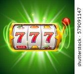 golden slot machine wins the...   Shutterstock .eps vector #579091147