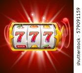 golden slot machine wins the... | Shutterstock .eps vector #579091159