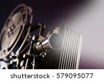 old style movie projector ... | Shutterstock . vector #579095077
