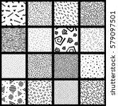 set of basic memphis style... | Shutterstock .eps vector #579097501