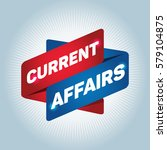 current affairs arrow tag sign. | Shutterstock .eps vector #579104875