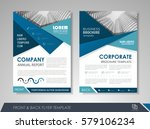 blue annual report brochure... | Shutterstock .eps vector #579106234