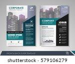 blue annual report brochure...   Shutterstock .eps vector #579106279