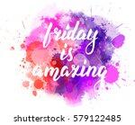 watercolor imitation splash... | Shutterstock .eps vector #579122485