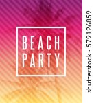 Tropical Summer Beach Party...