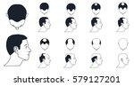 male baldness types   norwood... | Shutterstock .eps vector #579127201
