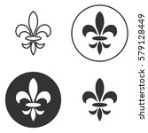 collection of fleur de lis... | Shutterstock .eps vector #579128449