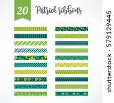 set of st.patrick's day... | Shutterstock .eps vector #579129445