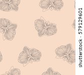 hand drawn seamless pattern... | Shutterstock .eps vector #579129601