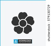 flower icon illustration... | Shutterstock .eps vector #579130729
