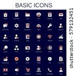 basic web icons. modern vector...   Shutterstock .eps vector #579132451