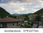 medieval little town in italy... | Shutterstock . vector #579137761
