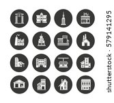 building icons set in circle... | Shutterstock .eps vector #579141295
