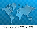 political map of the world.... | Shutterstock .eps vector #579141871